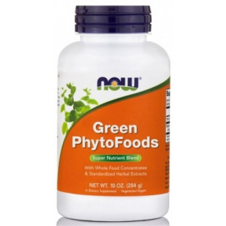 ЗЕЛЕНИ ФИТОХРАНИ прах 284г НАУ ФУУДС | GREEN PHYTO FOODS pwd 284g NOW FOODS