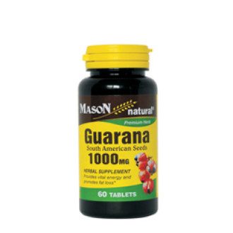 ГУАРАНА 1000мг 60 таблетки МЕЙСЪН НАТУРАЛ | GUARANA 1000mg 60 tabs MASON NATURAL