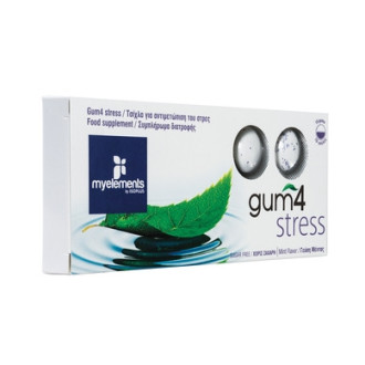 ГЪМ Дъвка против стрес х 10бр. МАЙЕЛЕМЪНТС | GUM 4 Stress 10s MYELEMENTS