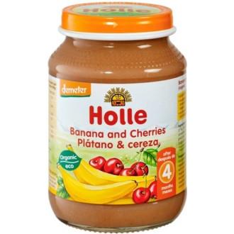 ХОЛЕ ОРГАНИК Пюре Банан и Череши 190гр | HOLLE ORGANIC Banana and Cherries 190g