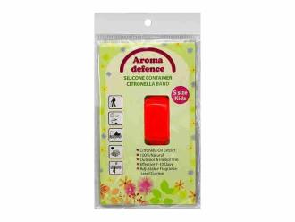 АРОМА ДЕФЕНС СИЛИКОНОВА ГРИВНА (контейнер) Против насекоми За деца - Избор от цветове 1бр. | AROMA DEFENCE INSECT WRISTBAND (container) For kids - Colour mix 1s