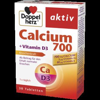 КАЛЦИЙ 700 + ВИТАМИН Д3 + К 30бр. таблетки ДОПЕЛХЕРЦ АКТИВ | CALCIUM 700 + VITAMIN D3 + K 30s tablets DOPPELHERZ AKTIV