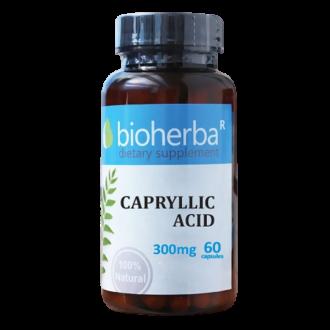 КАПРИЛОВА КИСЕЛИНА 300 мг. 60 капс. БИОХЕРБА | CAPRYLLIC ACID 300 mg. 60 caps. BIOHERBA