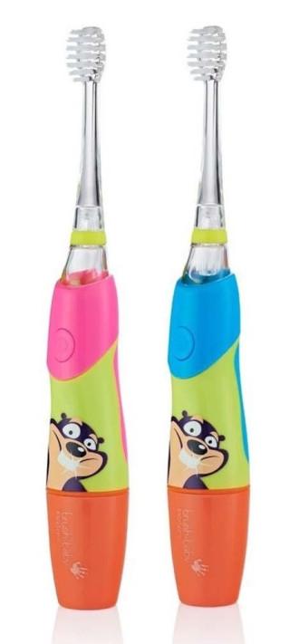 БРЪШ-БЕЙБИ КИДСОНИК Електрическа четка за зъби със светещ накрайник 3-6 1бр.   BRUSH-BABY KIDZSONIC Electrical toothbrush Flashing disco lights 3-6 1s