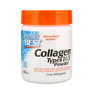 КОЛАГЕН Тип 1 и 3 пудра 200гр. ДОКТОРС БЕСТ | COLLAGEN Types 1 and 3 powder 200g DOCTOR'S BEST