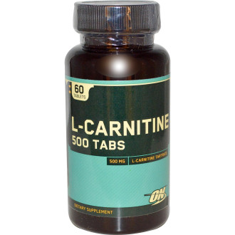 L-КАРНИТИН 500мг таблетки 60 бр. ОПТИМУМ НУТРИШЪН | L-CARNITINE 500mg tabs 60s OPTIMUM NUTRITION