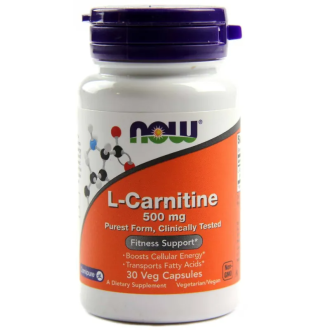 Л-КАРНИТИН 500 мг 30 капс. НАУ ФУУДС |  L-CARNITINE 500 mg 30 caps. NOW FOODS