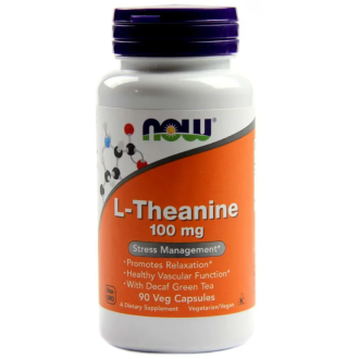 Л-ТЕАНИН 100мг капсули 90 бр. НАУ ФУУДС | L-THEANINE 100mg caps 90s NOW FOODS