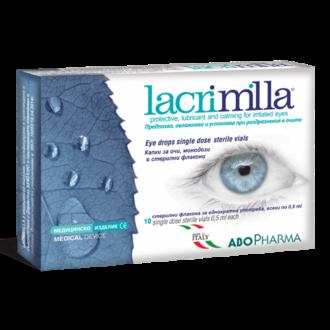 ЛАКРИМИЛА капки за очи, 10 монодози АБОФАРМА | LACRIMILLA eye drops, 10 monodoses ABOPHARMA