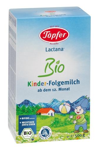 ЛАКТАНА БИО КИНДЕР Мляко за деца 12+ м. 500гр. | LACTANA BIO KINDER Growing up milk 12+m 500g