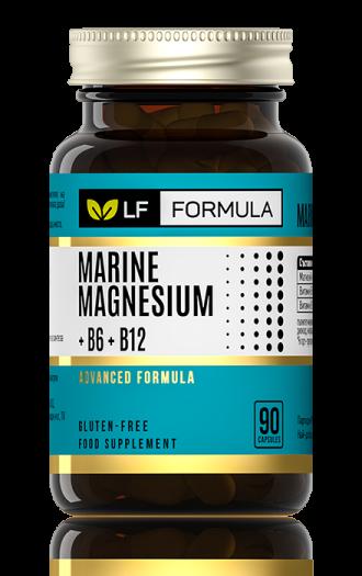ЛФ ФОРМУЛА Морски магнезий + В6 + В12 капсули 90бр. ФОРТЕКС | LF FORMULA Marine magnesium + B6 + B12 caps 90s FORTEX