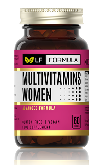 ЛФ ФОРМУЛА Мултивитамини за жени таблетки 60бр. ФОРТЕКС | LF FORMULA Multivitamins for women tabs 60s FORTEX