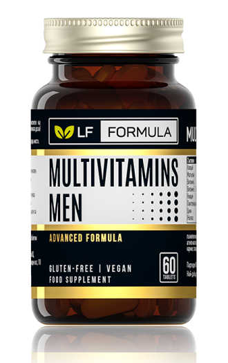 ЛФ ФОРМУЛА Мултивитамини за мъже 60бр. таблетки ФОРТЕКС | LF FORMULA Multivitamins for men 60s tabs FORTEX