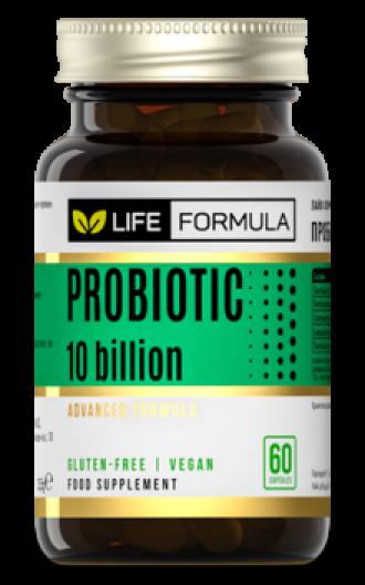ЛАЙФ ФОРМУЛА Пробиотик 10млрд. активни пробиотици 60бр. вег. капсули ФОРТЕКС | LIFE FORMULA Probiotic 10 billion CFU 60s veg caps FORTEX