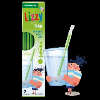 ЛИЗИ ВИТА СИП Сламки с Витамин С, Калций и Цинк за деца 7бр | LIZZY VITA SIP Straws with Vitamin C, Calcium and Zinc for children 7s