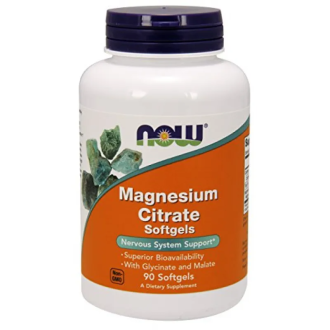 МАГНЕЗИЕВ ЦИТРАТ 134 мг 90 дражета НАУ ФУУДС | MAGNESIUM CITRATE 134 mg 90 dragees NOW FOODS