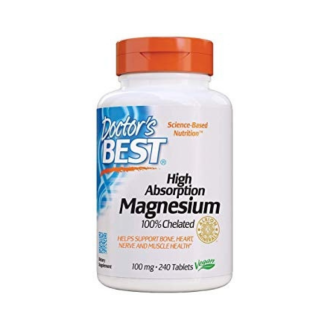 МАГНЕЗИЙ с висока абсорбация, 100% хелатиран 240 таблетки ДОКТОРС БЕСТ | MAGNESIUM with hight absorbtion, 100% chelated 240 tabs DOCTOR'S BEST