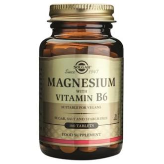 МАГНЕЗИЙ + ВИТАМИН B6 таб. 100бр. СОЛГАР | MAGNESIUM + B-6 tab. 100s SOLGAR