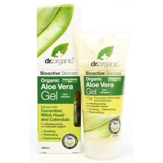 Д-Р ОРГАНИК Алое вера гел с краставица 200мл | DR ORGANIC Aloe vera gel with cucumber 200ml