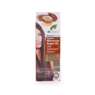 Д-Р ОРГАНИК Арганово масло серум за коса 100мл | DR ORGANIC Argan oil hair treatment serum 100ml