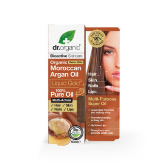 Д-Р ОРГАНИК Арганово масло 100% чисто, течно 50мл | DR ORGANIC Argan oil liquid gold pure oil 50ml