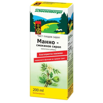 ШОНЕНБЕРГЕР БИО Манно-смокинов сироп 200мл | SCHOENENBERGER BIO Manna-feigen siryp 200ml