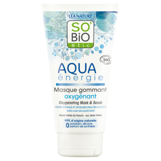 СО'БИО AQUA ENERGIE Оксигенираща маска и скраб за лице 100мл | SO'BIO AQUA ENERGIE Oxygenating mask and scrub 100ml