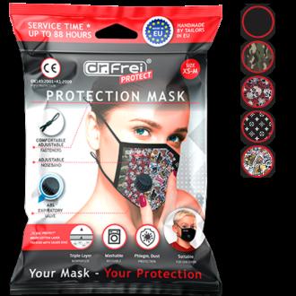 МАСКА ЗА ЛИЦЕ, Предпазна, за многократна употреба с клапан респиратор XS-M 1бр ДР. ФРЕЙ ПРОТЕКТ | PROTECTIVE FACE MASK WITH RESPIRATOR XS-M 1s DR. FREI
