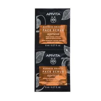 Ексфолиант за лице с Кайсия 2 х 8мл ЕКСПРЕСНА КРАСОТА АПИВИТА | Face scrub for gentle exfoliation with Apricot 2 x 8ml EXPRESS BEAUTY APIVITA