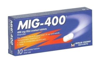 МИГ 400 филмирани таблетки 10бр. | MIG 400 film-coated tablets 10s