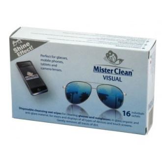 МИСТЪР КЛИЙН ВИЖУЪЛ Мокри кърпички за почистване на очила 16бр | MR. CLEAN VISUAL Wet wipes 16s