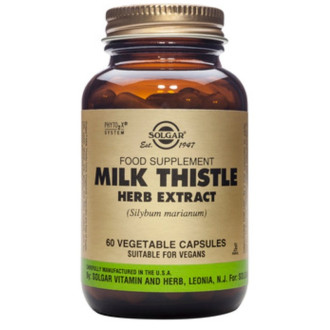 ЕКСТРАКТ ОТ МАГАРЕШКИ ТРЪН раст. капсули 60 бр. СОЛГАР | MILK THISTLE HERB EXTRACT veg.caps 60s SOLGAR