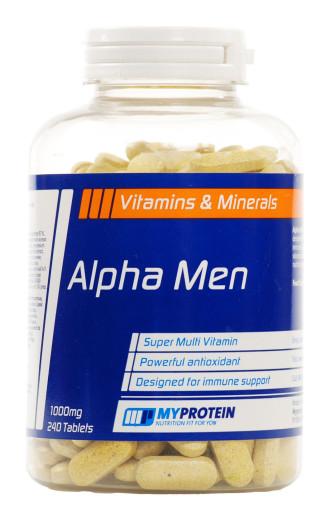 АЛФА МЕН СУПЕР МУЛТИ ВИТАМИН 240 таблетки MYPROTEIN | ALPHA MEN SUPER MULTI VITAMIN 240 tabs. MYPROTEIN