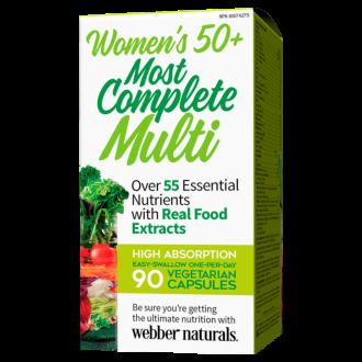 МУЛТИВИТАМИНИ ЗА ЖЕНИ 50+ вег. капс. 90бр. УЕБЪР НАТУРАЛС | WOMEN'S 50+ MOST COMPLETE MULTI 90s veg caps WEBBER NATURALS