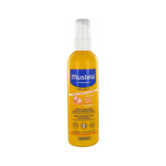 Слънцезащитен спрей SPF50+ x 200мл МУСТЕЛА   Sun spray SPF50+ x 200ml MUSTELA