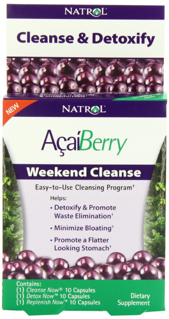 АКАЙ БЕРИ уикенд изчистване 30 капс. НАТРОЛ | ACAI BERRY Weekend Cleanse 30 caps NATROL