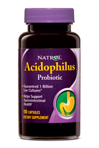 АЦИДОФИЛУС 100 капсули НАТРОЛ | ACIDOPHILUS 100caps NATROL