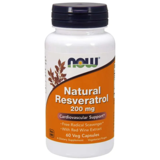 НЕЙЧЪРЪЛ РЕСВЕРАТРОЛ капсули 60 бр. НАУ ФУУДС | NATURAL RESVERATROL caps 60s NOW FOODS