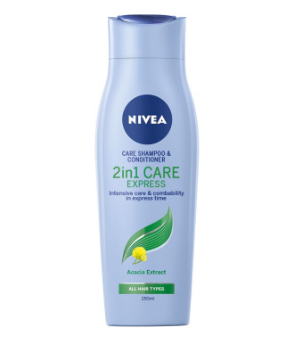 НИВЕА КЕЪР ЕКСПРЕС 2в1 Шампоан и балсам 250мл | NIVEA CARE EXPRESS 2in1 Shampoo and conditioner 250ml