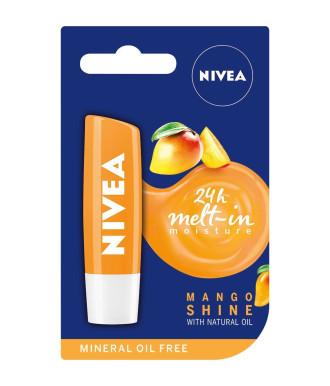 НИВЕА Балсам за устни плодов Манго 4,8гр | NIVEA Lip Balm fruity Mango Shine 4.8g
