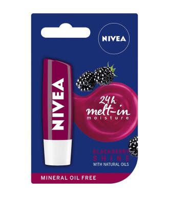НИВЕА Балсам за устни Къпина 4,8гр | NIVEA Lip Balm Blackberry shine 4.8g