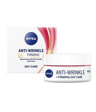 НИВЕА АНТИ-РИНКЪЛ+ Стягащ дневен крем против бръчки 45+ 50мл | NIVEA ANTI-WRINKLE+ Firming day cream 45+ 50ml