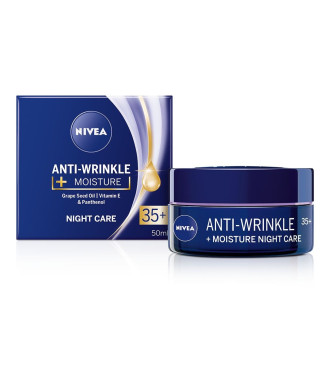 НИВЕА АНТИ-РИНКЪЛ+ Хидратиращ нощен крем против бръчки 35+ 50мл | NIVEA ANTI-WRINKLE+ Night care anti-wrinkle moisturizing 35+ 50ml