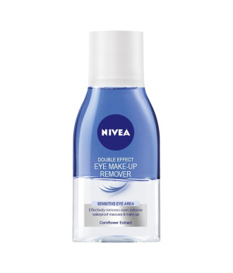 НИВЕА ДАБЪЛ ЕФЕКТ Двуфазен лосион за отстраняване на околоочен грим 125мл | NIVEA DOUBLE EFFECT Eye make-up remover 125ml