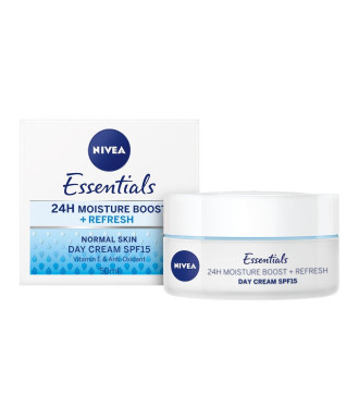 НИВЕА ЕСЕНШЪЛС Дневен крем за нормална кожа SPF15 50мл | NIVEA ESSENTIALS Day cream moisturizing SPF15 50ml