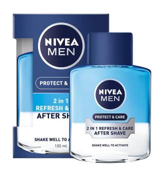 НИВЕА МЕН ПРОТЕКТ & КЕЪР Двуфазен лосион за след бръснене 100мл | NIVEA MEN PROTECT & CARE Double-phase after shave lotion 100ml