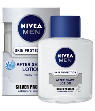 НИВЕА МЕН СИЛВЪР ПРОТЕКТ Лосион за след бръснене 100мл | NIVEA MEN SILVER PROTECT After shave lotion 100ml