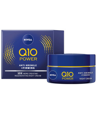 НИВЕА Q10+ ПАУЪР Нощен крем против бръчки | NIVEA Q10+ POWER Anti-wrinkle moistiruzer night 50ml