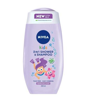 НИВЕА КИДС ЗА МОМИЧЕТА Душ гел и Шампоан 2 в 1 250мл | NIVEA KIDS FOR GIRLS Shower gel and Shampoo 2 in 1 250ml