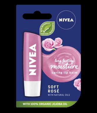 НИВЕА Балсам за устни Нежна Роза 4,8гр | NIVEA Lip Balm Soft Rose 4.8g